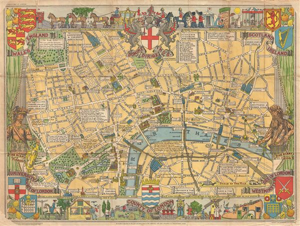 County Of London Geographicus Rare Antique Maps: Children S Map Of London At Infoasik.co