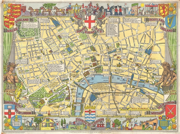 Children's Map of London.