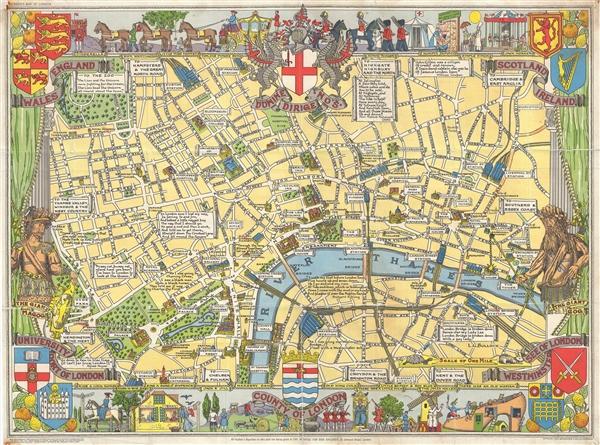 Children's Map of London.