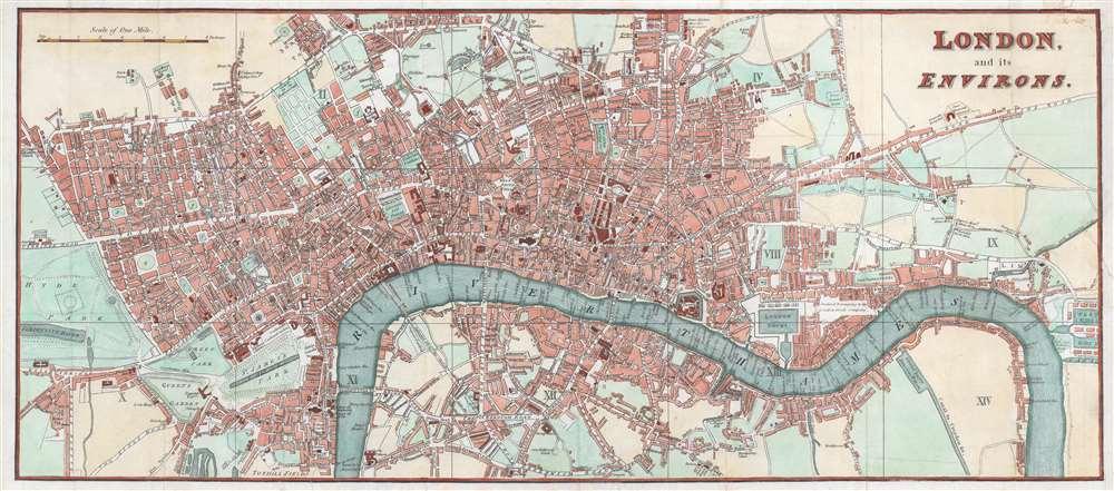 London and its Environs. - Main View