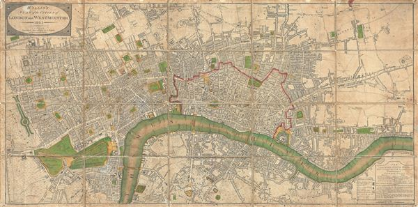 Wallis's Plan of the Cities of London and Westminster. - Main View