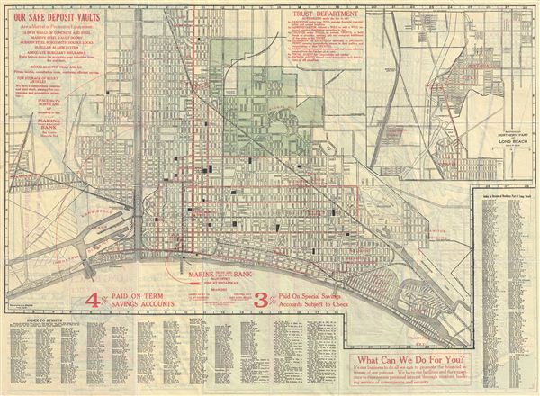 Map of Long Beach and the Harbor District. - Main View