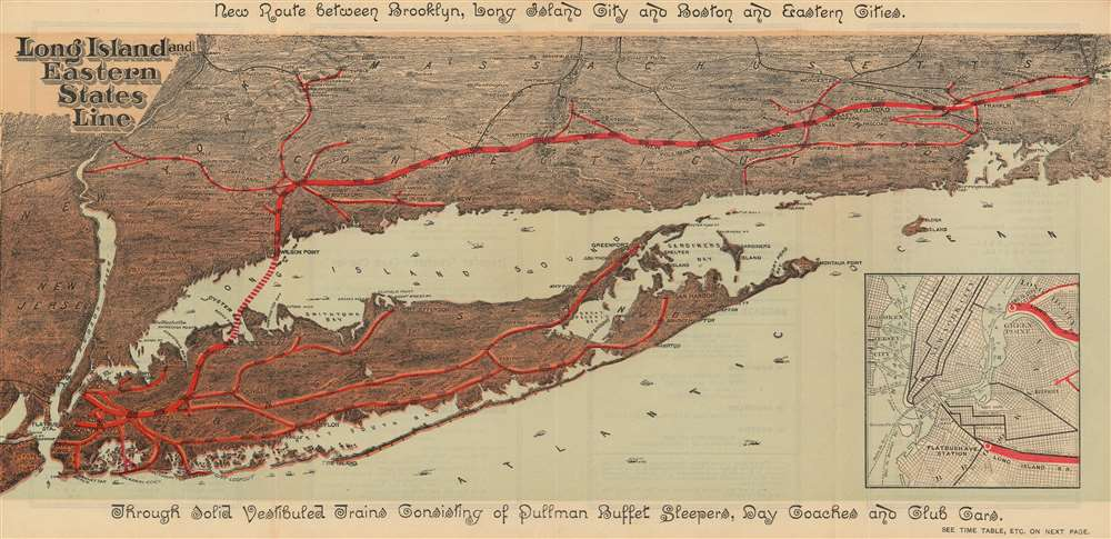 Long Island and Eastern States Line. - Main View