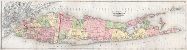 Map of Long Island - Main View