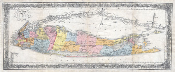 Travellers Map of Long Island. - Main View