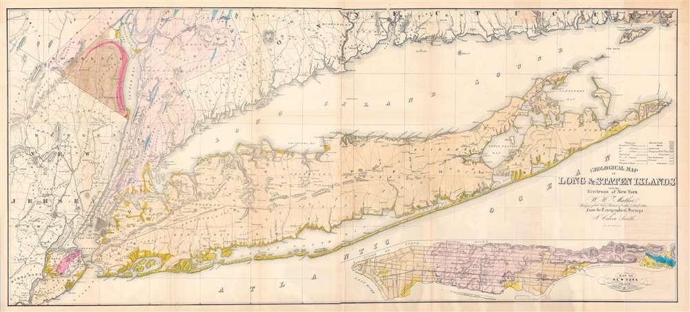 Geological Map of Long and Staten Islands with the Environs of New York. - Main View