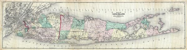Map of Long Island.