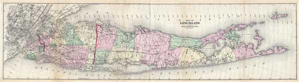 Map of Long Island.