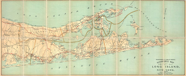 Automobile Map of Long Island, New York. East.