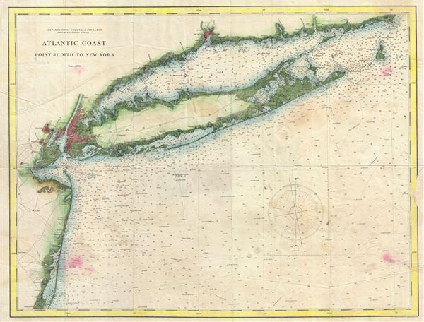 Atlantic Coast Point Judith to New York. - Main View