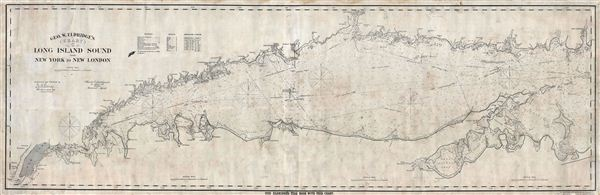 Geo. W. Eldridge's Chart C Long Island Sound from New York to New London.