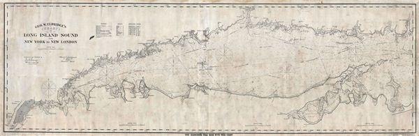 Geo. W. Eldridge's Chart C Long Island Sound from New York to New London.
