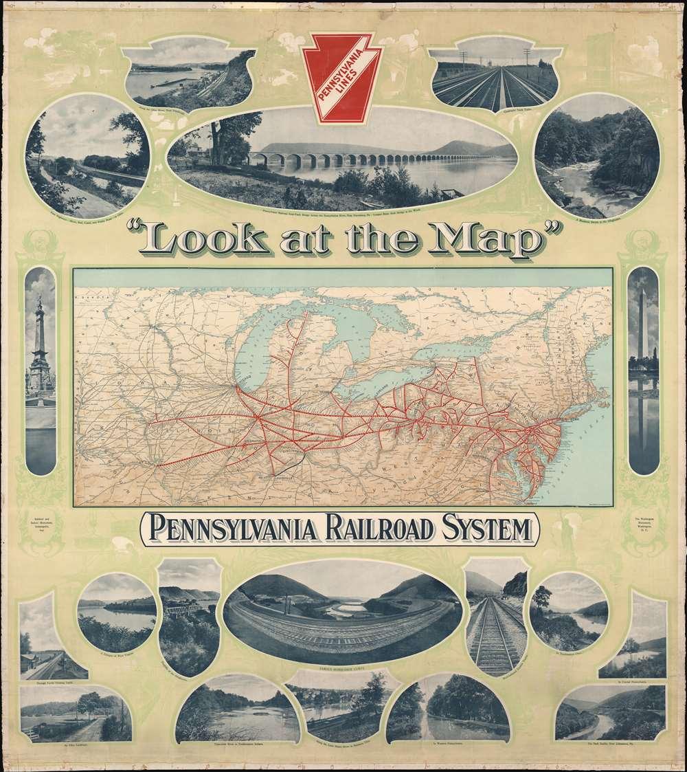 'Look at the Map'. Pennsylvania Railroad System. - Main View