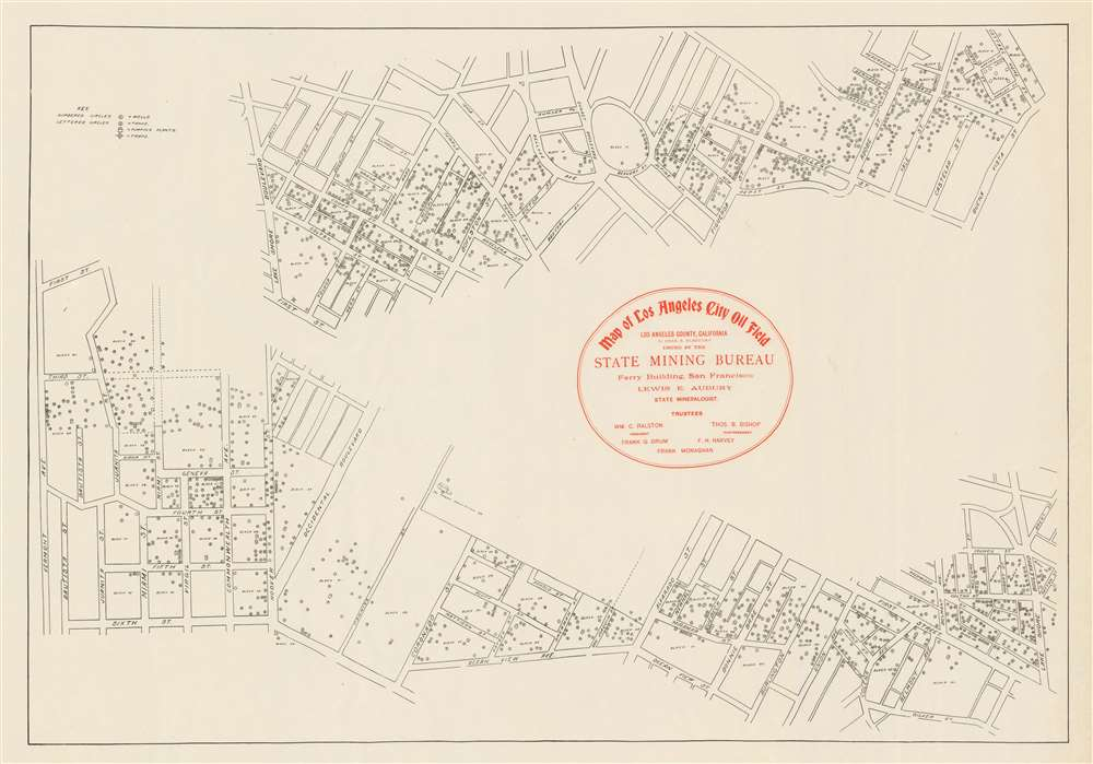 Map of Los Angeles City Oil Field Issued by the State Mining Bureau. - Main View