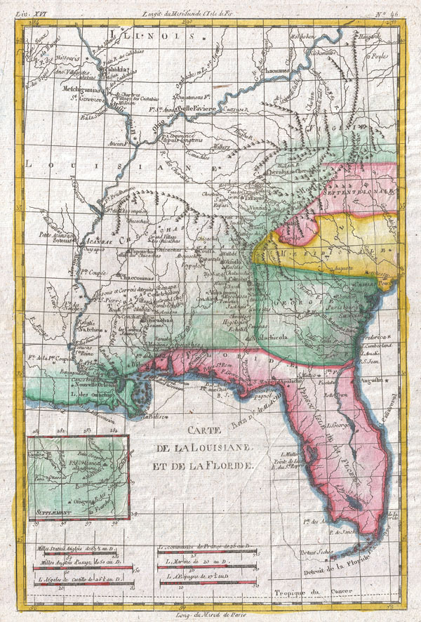 Carte De Louisiane Et De La Floride - Main View