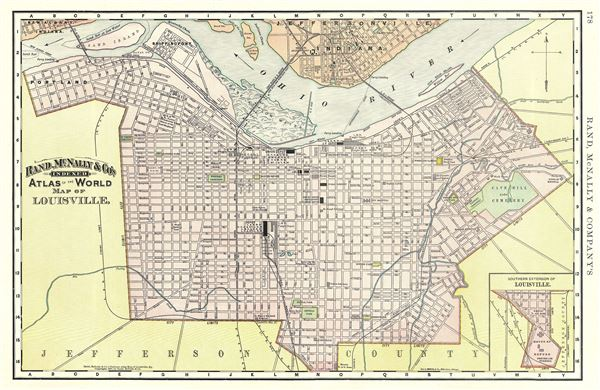 Map of Louisville.