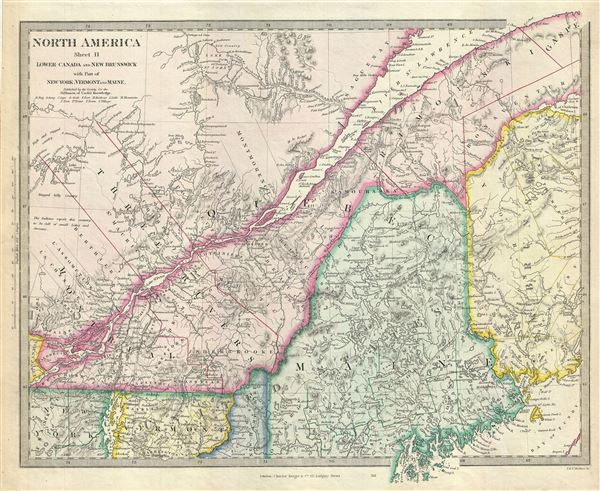 North America Sheet II Lower Canada and New Brunswick with Part of New-York, Vermont and Maine.