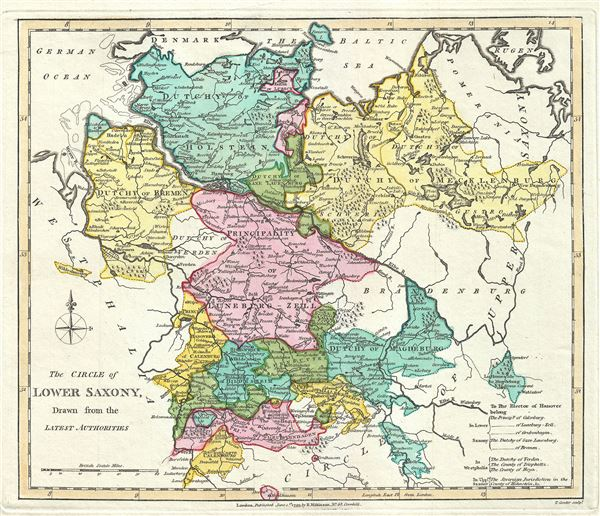 The Circle of Lower Saxony, Drawn from the Latest Authorities. - Main View