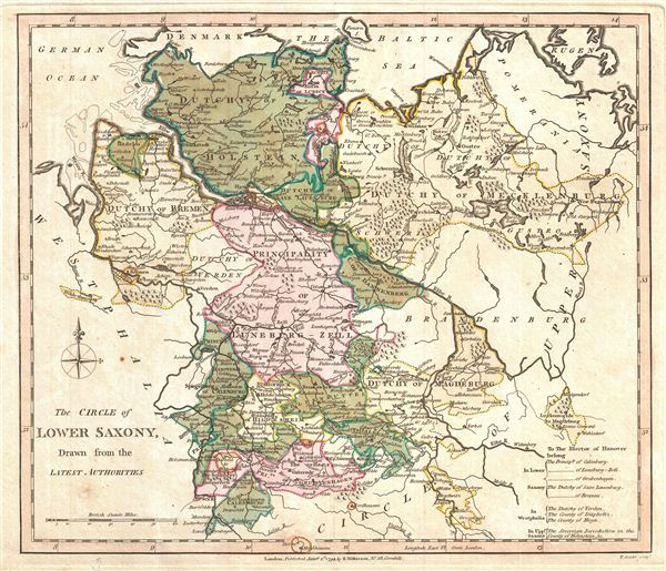 The Circle of Lower Saxony, Drawn from the Latest Authorities.