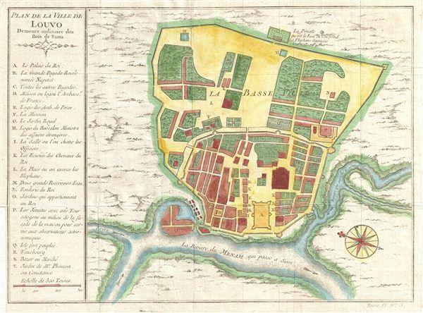 Plan de la Ville De Luovo Deineure ordinarie des Rois du Siam. - Main View
