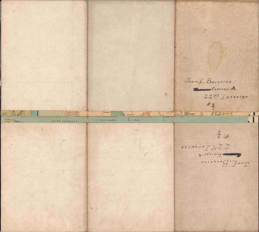 Carta Itineraria de la Isla de Luzon por el Teniente Coronel de E. M. del Ejercity de Filipinas. - Alternate View 1