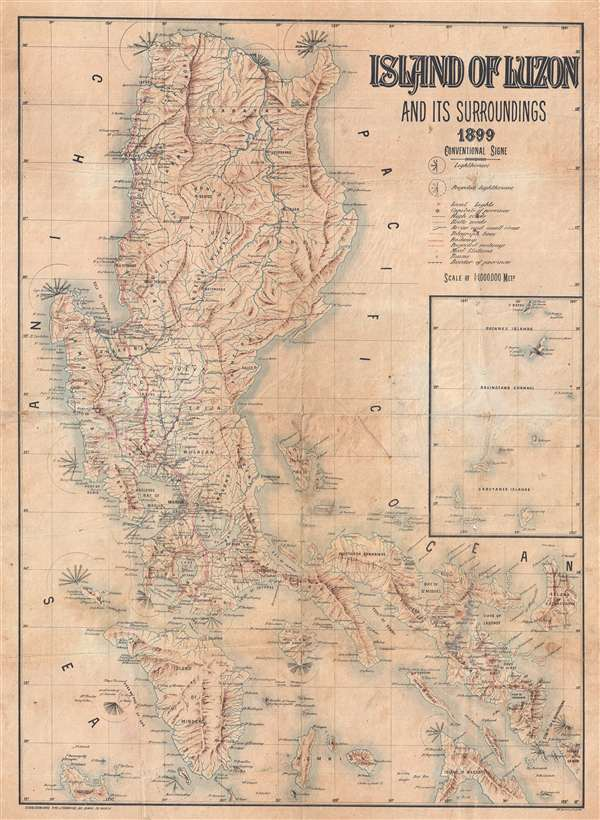 Island of Luzon and its Surroundings 1899.