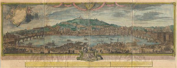 Vue d'une partie de la ville de Lion dessignee dans le maison de Mrs. les Chanoines regulliers de St. Antoine.
