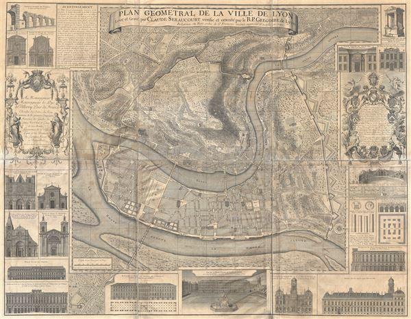 Plan Geometral de la Ville de Lyon.