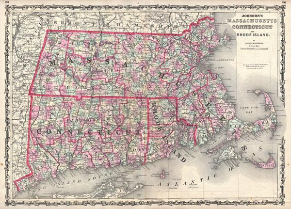 Johnson\'s Massachusetts, Connecticut, and Rhode Island ...
