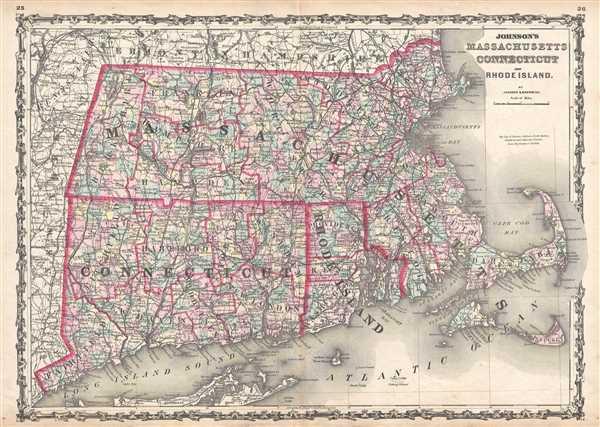 Johnson's Massachusetts, Connecticut, and Rhode Island.