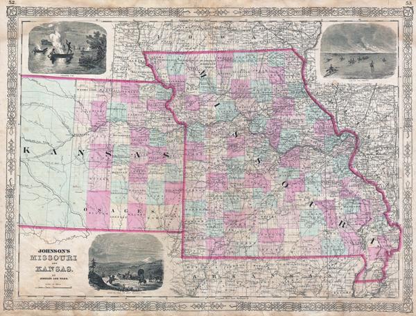 Johnson's Missouri and Kansas. - Main View