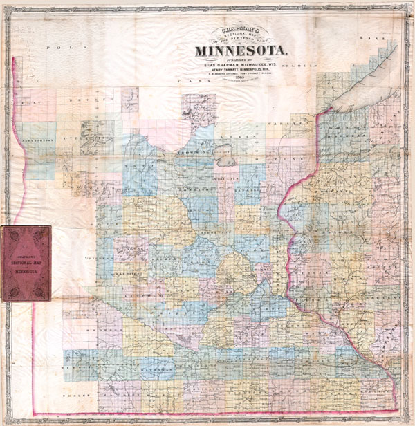 Chapman's Sectional Map of the Surveyed Part of Minnesota. - Main View