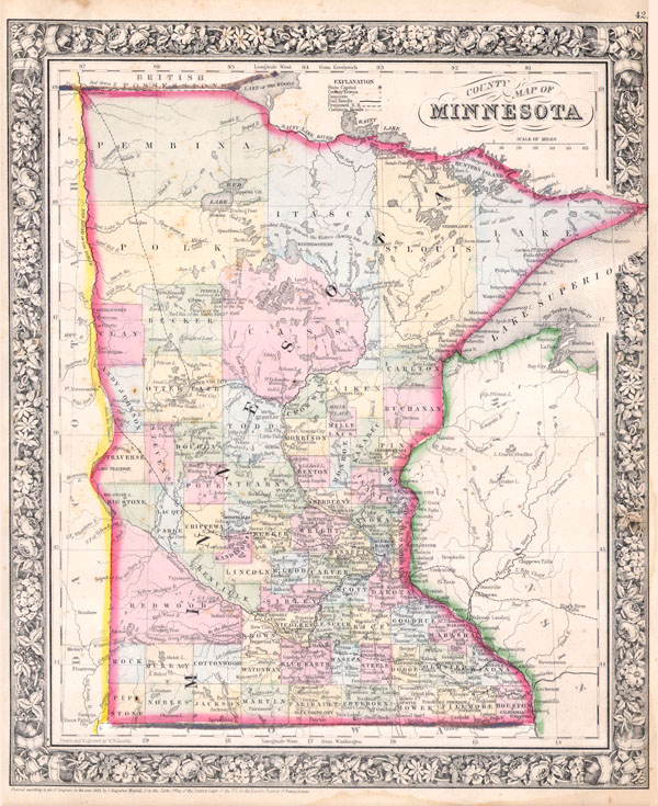 County Map of Minnesota - Main View