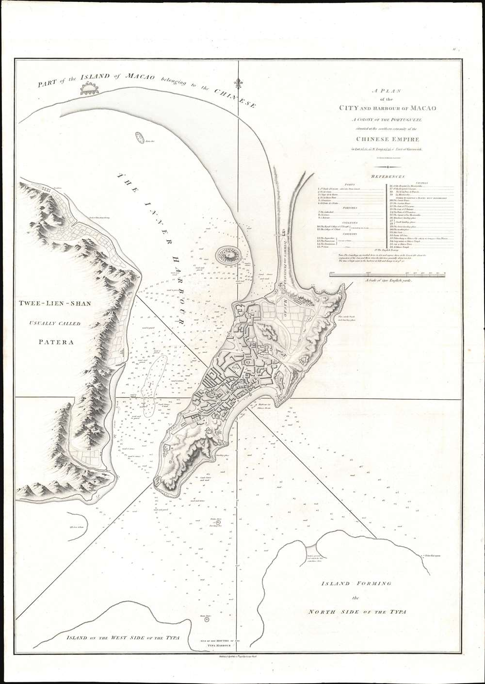 A Plan of the City and Harbour of Macao A Colony of the Portugueze situated at the southern extremity of the Chinese Empire in Lat. 22 ⁰12ʹ44'' N., long. 113⁰35ʹ0'' east of Greenwich. - Main View
