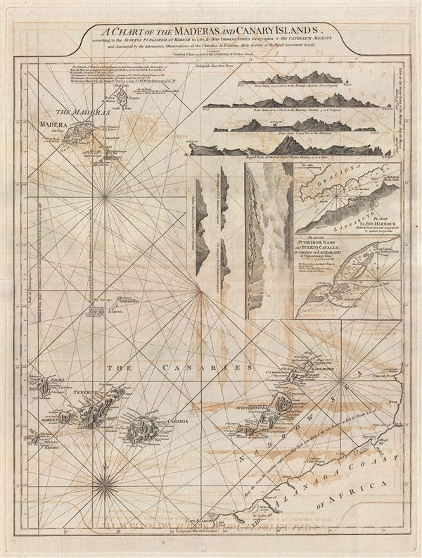 A Chart of the Maderas and Canary Islands. - Main View