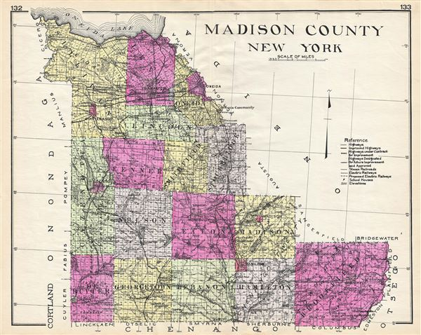 Madison County New York Geographicus Rare Antique Maps