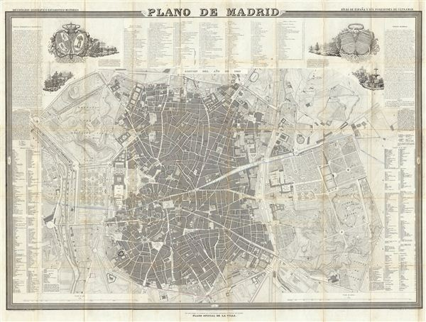 Plano de Madrid. - Main View