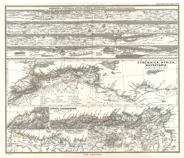 1865 Spruner Map of Northwestern Africa, the Magreb, the Barbary Coast, Africa