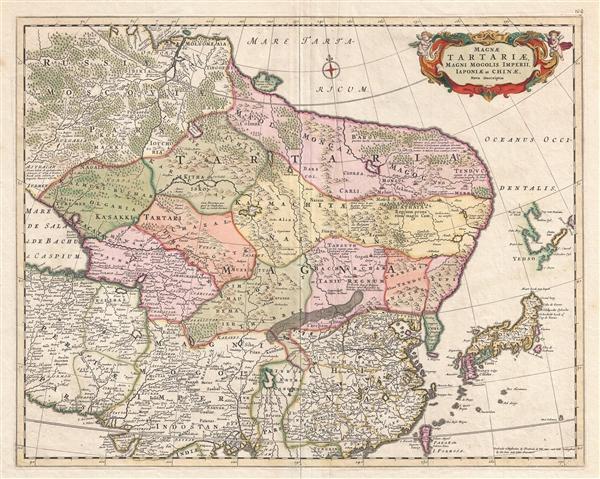 Magnae Tartariae Magni Mogolis Imperii Iaponiae et Chinae Nova Descriptio - Main View