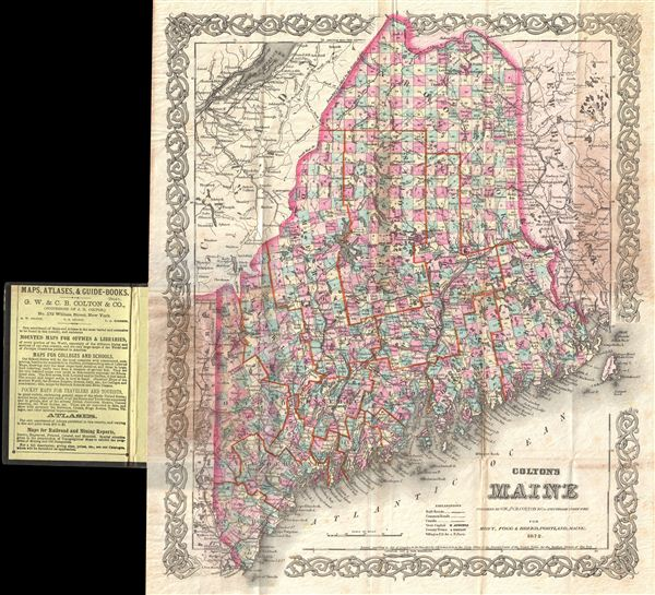 Colton's Map of Maine. - Main View