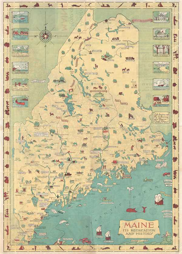Maine Its Recreation and History: Geographicus Rare Antique Maps