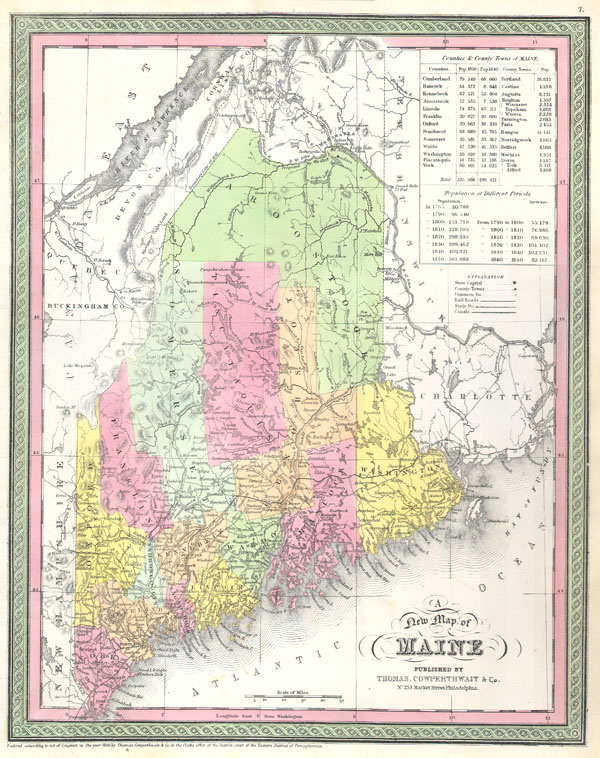 A New Map of Maine - Main View