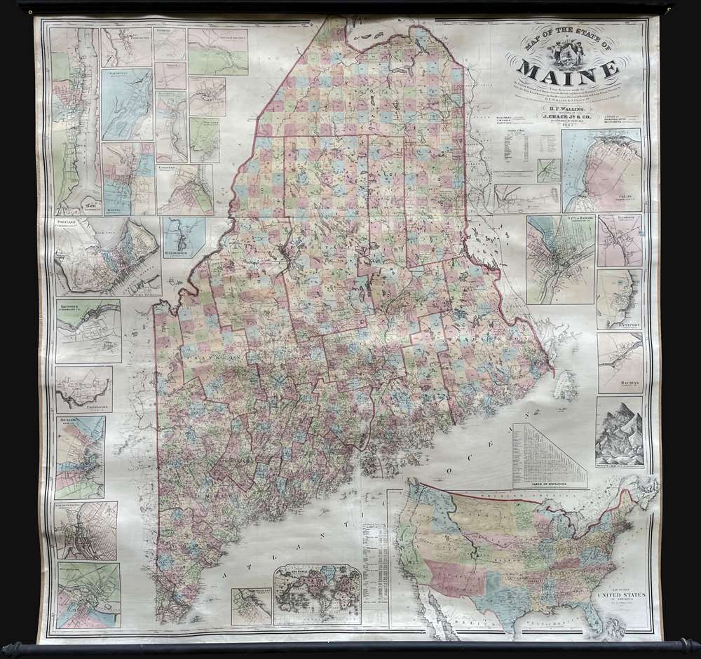 Map of the State of Maine. - Main View