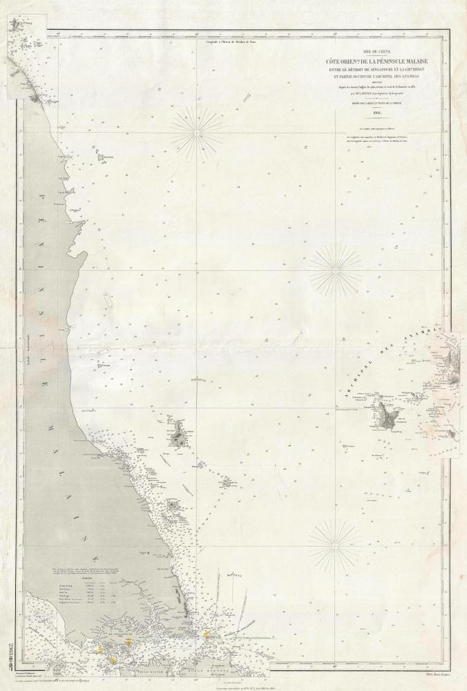 Côte Orientale de la Péninsule Malaise entre le Détroit de Singapoure de la Grande Redan et Partie Occidentale de l'Archipel des Anambas.