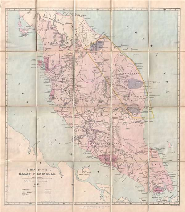 A Map of the Malay Peninsula. - Main View