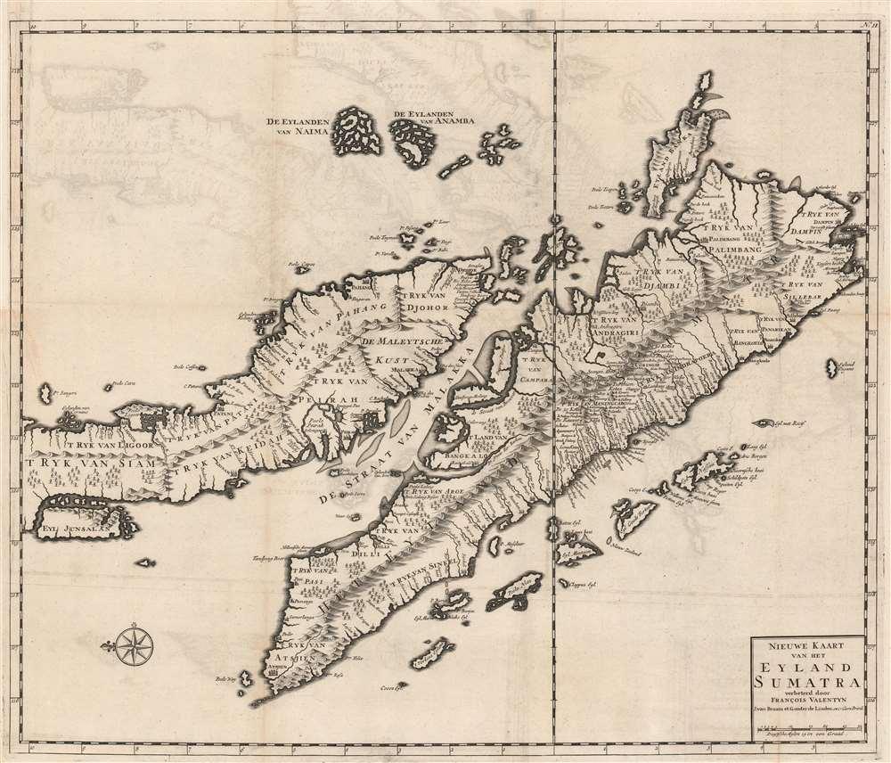 Nieuwe Kaart van het Eyland Sumatra verbeterd door Francois Valentyn.