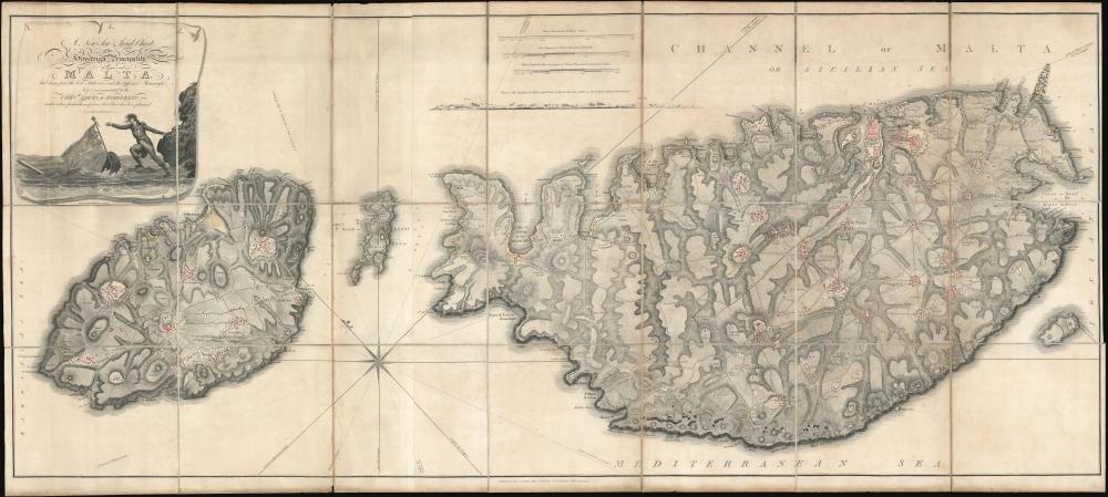 1804 Neele / Boisgelin Map of Malta and Gozo