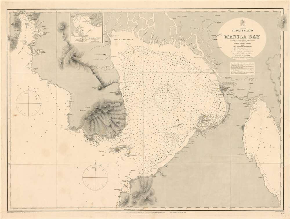 Philippines, Luzon Island, Manila Bay Surveyed by the Spanish Phillipine Hydc. Commission under the direction of Captain Claudio Montero 1861 with Corrections and Additions to 1885. - Main View