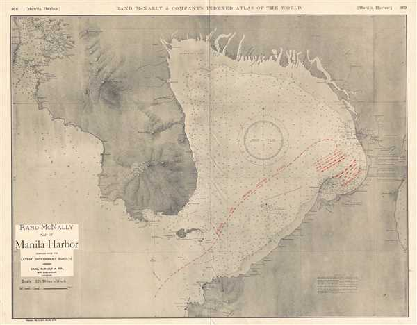 Rand-McNally Map of Manila Harbor.