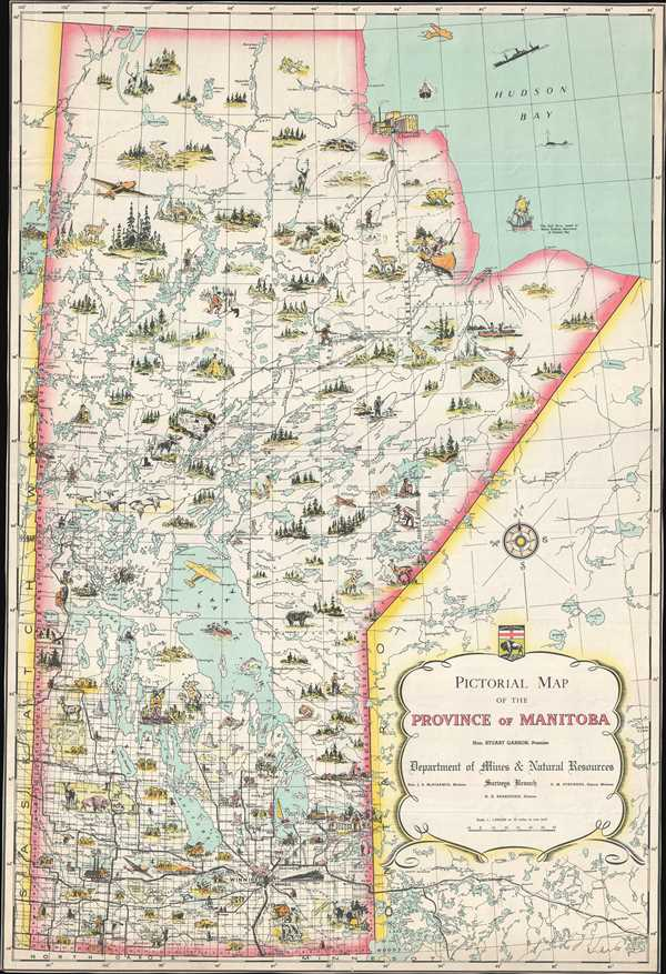 Pictorial Map of the Province of Manitoba.